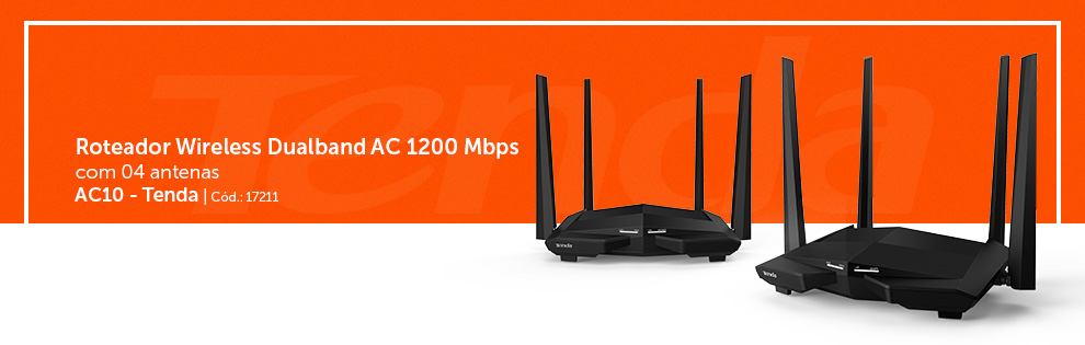 Roteador Wireless Gigabit 1167mbps Dual Band Ac10