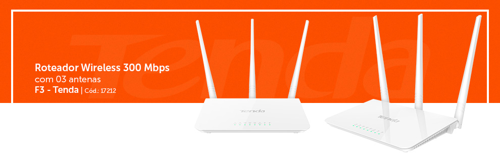 Roteadores Wireless 300mbps F3
