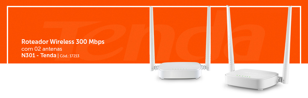 Roteadores Wireless 300mbps n301